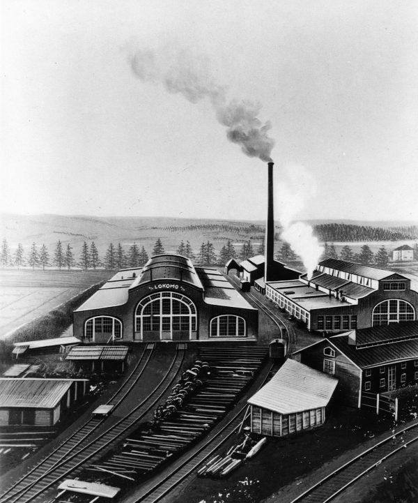 Lokomon tehdasalue Tampereen Hatanpäällä.